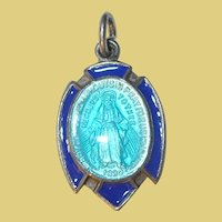 Vintage Sterling Guilloche Enamel Charm by Creed