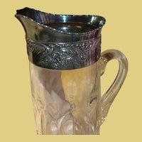 Vintage Elegant Glass Pitcher