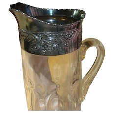 Vintage Elegant Glass Pitcher