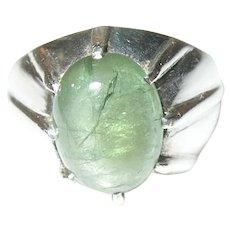 Vintage Sterling Quartz Dome Ring