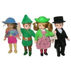 """Vintage Madame Alexander Dolls 4 Set 5"""""""