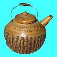 Vintage Treenware Teapot Kiskatom, NY