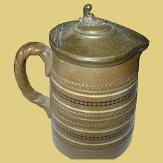 Vintage Mustard Pot Pewter Lid