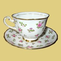 Vintage Teacup and Saucer by Royal Chelsea