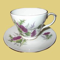 Vintage Teacup and Saucer by Highland Beauty