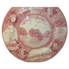 Vintage Transferware Plate by Old English Staffordshire Ware