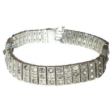 Art Deco Sterling Bracelet by Diamonbar