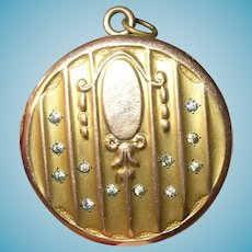Victorian Rolled Gold Locket Pendant 1880's
