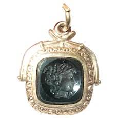Antique Watch Fob Intaglio Medusa