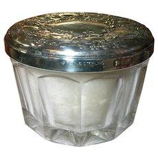 Vintage Sterling Crystal Powder Jar by Towle