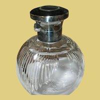 Vintage Sterling Crystal Perfume Bottle