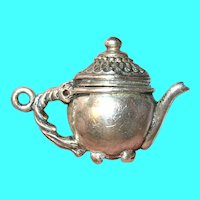 Vintage Sterling Teapot Charm Mechanical