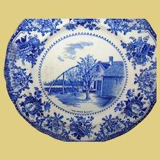 Vintage Transferware Plate Old Oaken Bucket