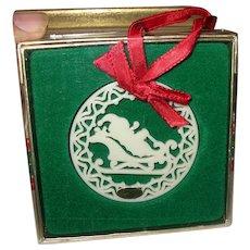 Vintage Lenox Yuletide Collection Santa Ornament