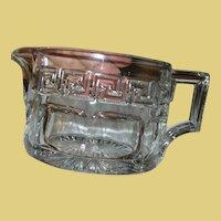 Vintage Heisey Crystal Pitcher Greek Key