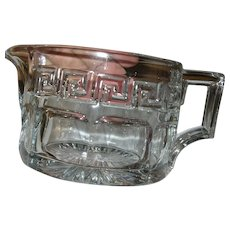 Vintage Heisey Crystal Pitcher Greek Key