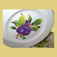Five Vintage Fruit Plates by Cuthbertson