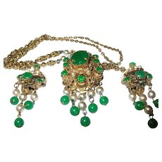 Vintage German Necklace and Earring set