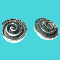 Vintage Sterling Spiral Earrings