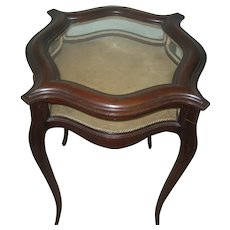 Vitrine Table French Design W.B, Moses & Sons 1880's