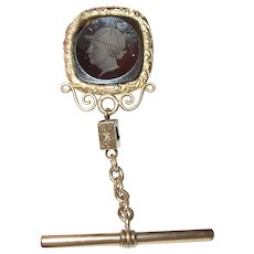 Antique 14K Intaglio Watch Fob