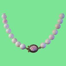 Vintage Bead Necklace Faux Coral 1930's