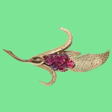 Vintage Large Lily Brooch by Parco
