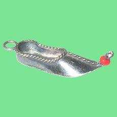 Vintage 900 Silver Shoe Charm