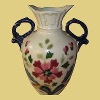 Vintage Enamel Porcelain Vase