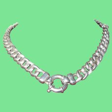 Vintage Sterling Silver Link Necklace 59.6 Grams