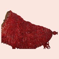 Vintage 1930's Red Flapper Bag