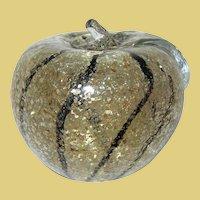 Vintage Venetian Glass Paperweight Apple