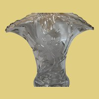 Vintage Flower Basket Early Pressed Glass