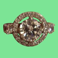 Vintage Sterling FAux Diamond Ring