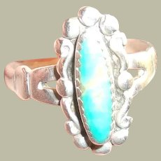 Vintage Sterling Native American & Turquoise Ring
