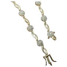 Vintage Sterling Vermeil Bracelet