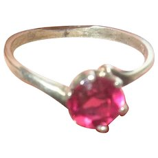 Vintage Sterling Ring Garnet