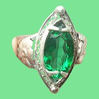 Vintage Sterling Ring Faux Stone