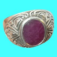 Vintage Sterling Ruby Ring!