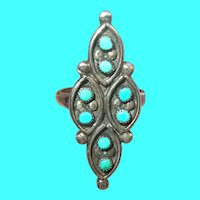 Vintage Sterling Turquoise Ring Pawn Jewelry