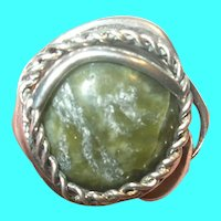 Vintage Sterling Ring Natural Stone
