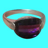 Vintage Sterling Ring Faux Amethyst