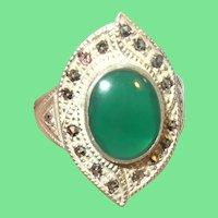 Vintage Sterling Ring Marcasite