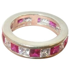 Vintage Sterling Topaz Ring