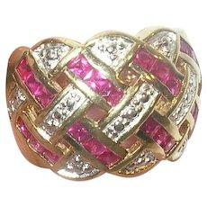 Vintage Sterling Vermeil Ring.