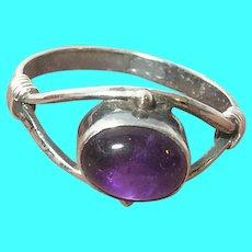 VIntage Sterling Amethyst Ring.
