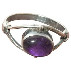VIntage Sterling Amethyst Ring.