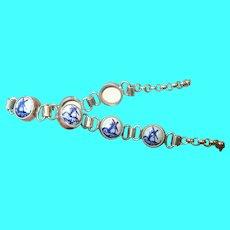 Vintage Sterling Delph Link Bracelet