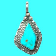 """Vintage Sterling Pendant By """"Bobby Apachito"""""""