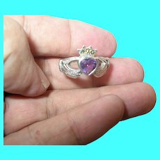 Vintage Sterling Claddagh Ring